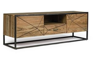 TV stand 2A-1C Egon, TV stand in acacia wood