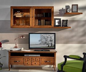 Tv stand with 1 drawer, Classic tv cabinet