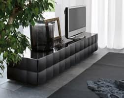 VENICE tv stand, TV cabinet with 2 drawers, in laminate coated with PVC