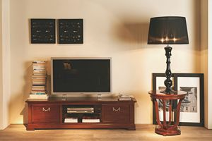 Villa Borghese TV stand 5378, TV cabinet with tempered glass shelf