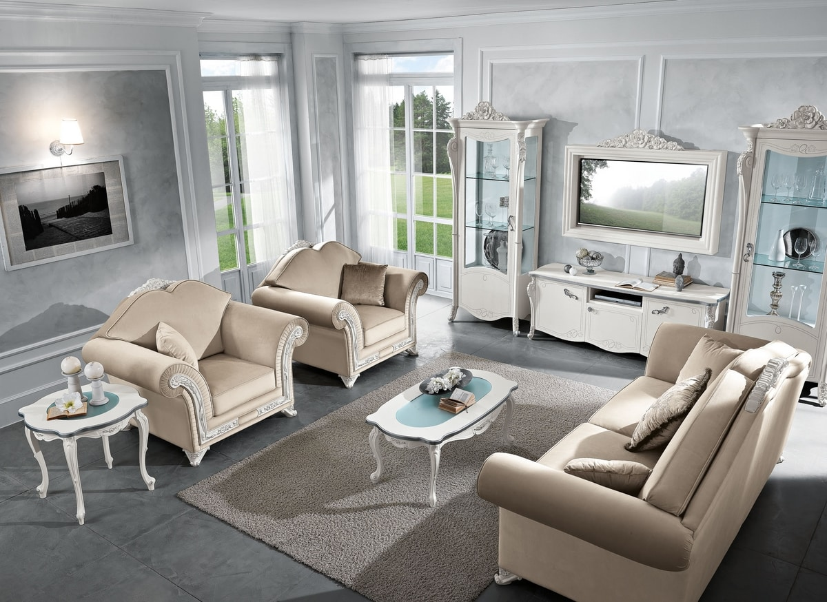 Viola TV composition, Neoclassical style living composition