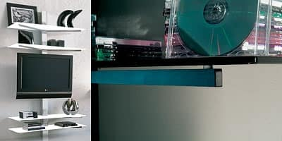 xl82 erik, TV-Stand, wall mounting, with concealed cable guides