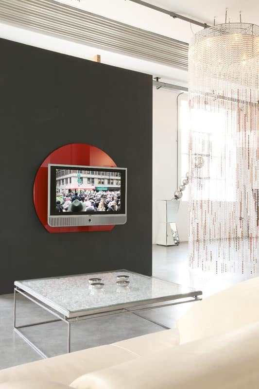 xl95 wall, Tv supports in coloured tempered glass