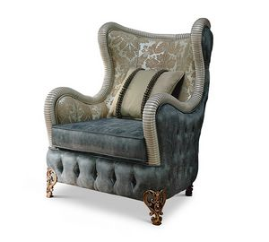 1767/A, Fabric berg�re armchair for classical sitting room