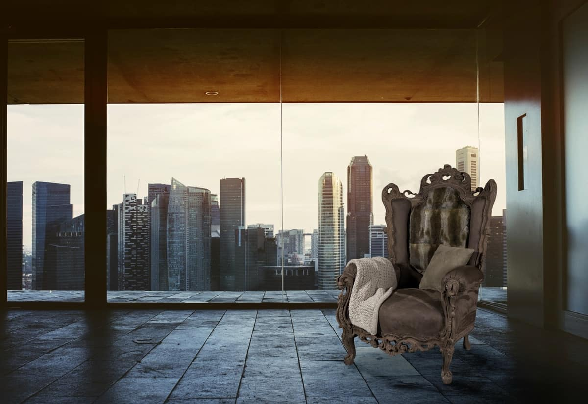 Casanova Nabuk leather, Style armchair suited for luxury hotels