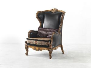 4229, Bergere armchair with carvings
