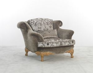 4891, Outlet armchair, covered in silk