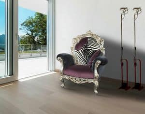 Firenze fabric, Classic alternative armchair ideal for modern