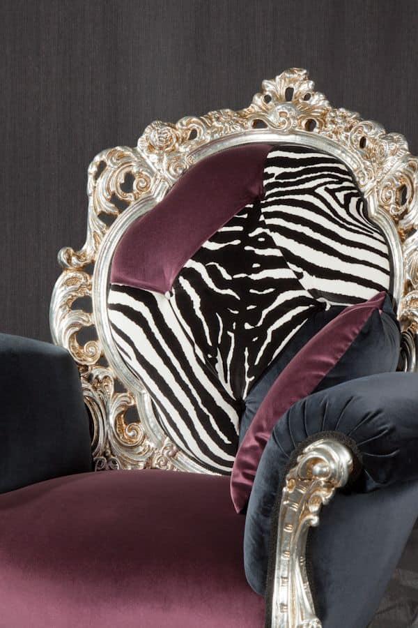 Firenze fabric, Classic alternative armchair ideal for modern