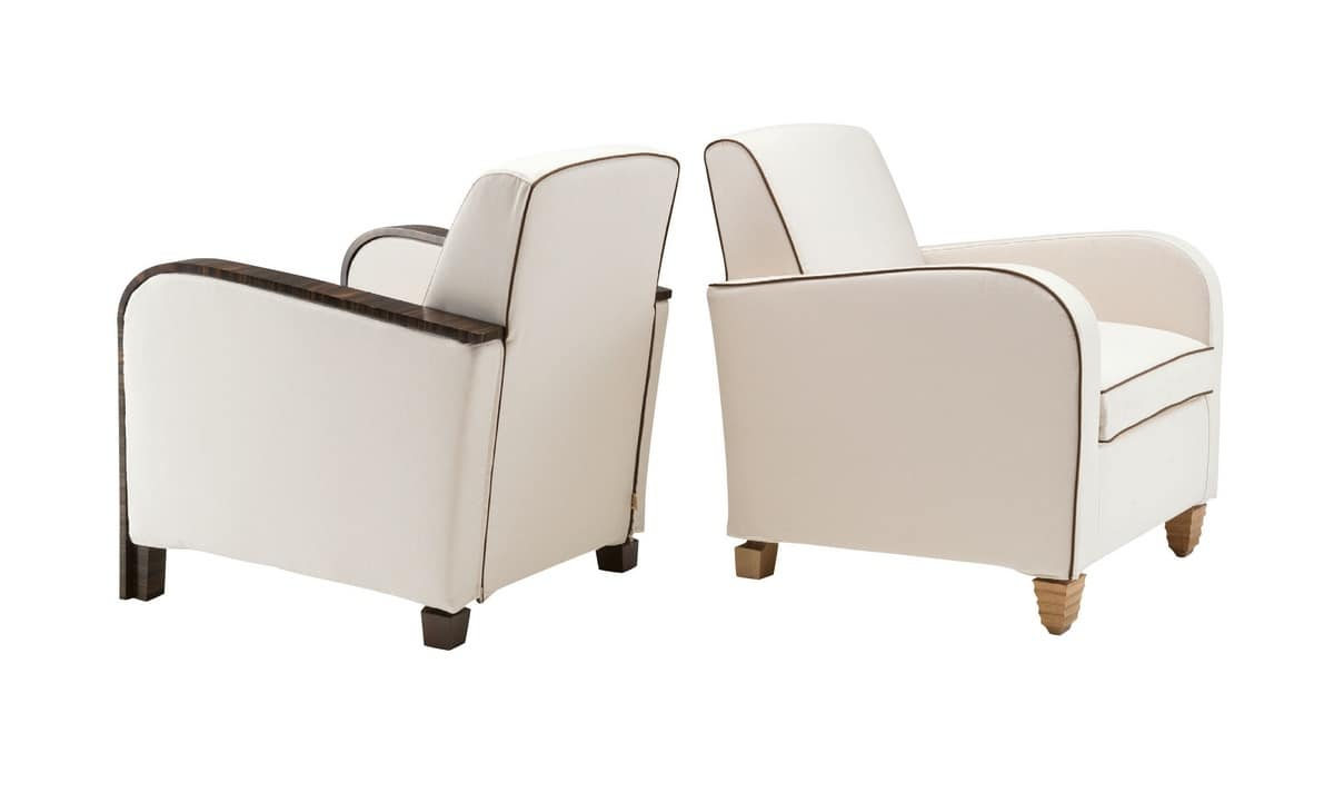Agata, Contemporary classic armchair, with removable covering