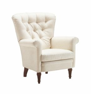Anna, Armchair with goose down padding, removable cover
