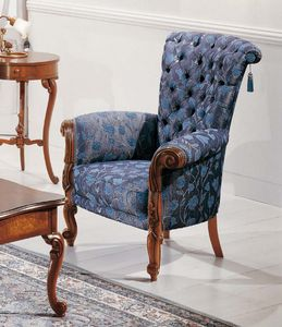 Art. 3596, Comfortable armchair in Louis XV style