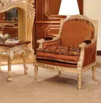 Art. 735/P, Handcarved armchair, with classic style