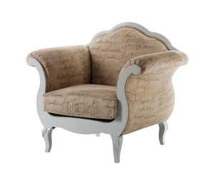 Art. AX406, Armchair in Provencal style, padded, for hotels