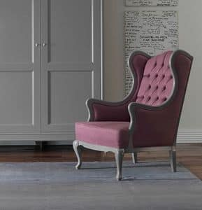 Art. CA977, Armchair with tufted upholstery