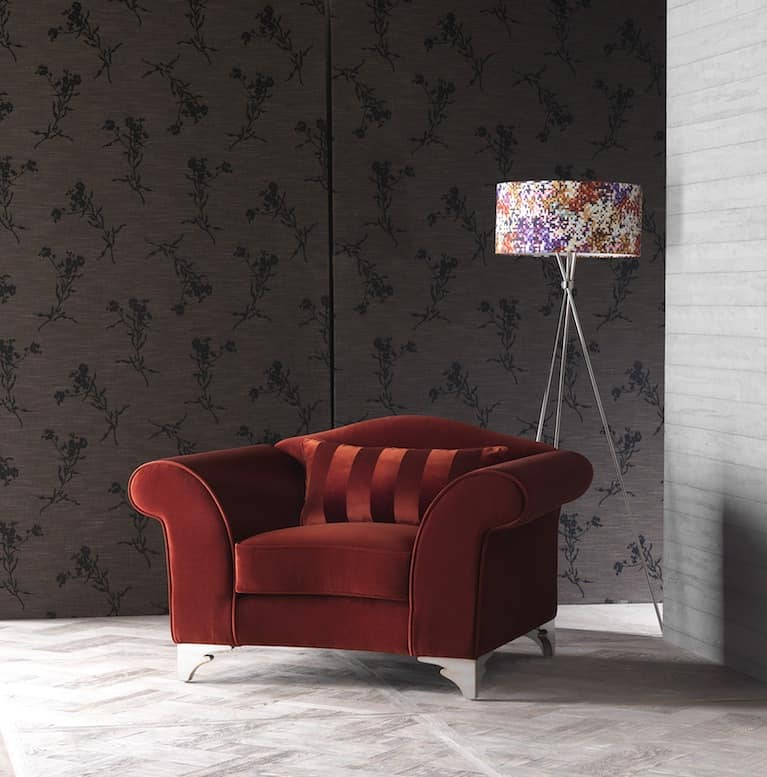 BLOOM armchair 8415A, Contemporary chair in poplar, for naval furniture