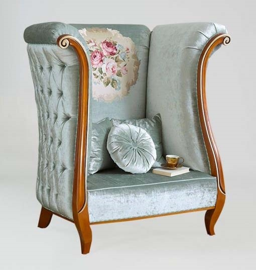 BS374A – Throne, Padded throne, with capitonné finish