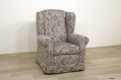 Camelia, Classic bergère armchair, with high comfort backrest