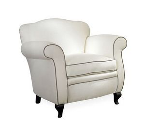Cecilia, Removable armchair, with a classic design
