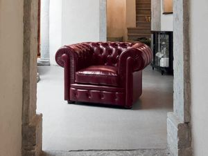 CLASSIC, Classic style armchair with high armrests