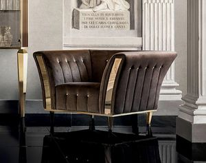 DIAMANTE armchair, Armchair with a classic design, for refined living rooms
