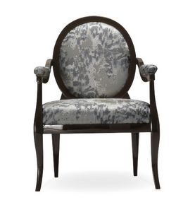 Diana armchair, Classic armchair, with round backrest