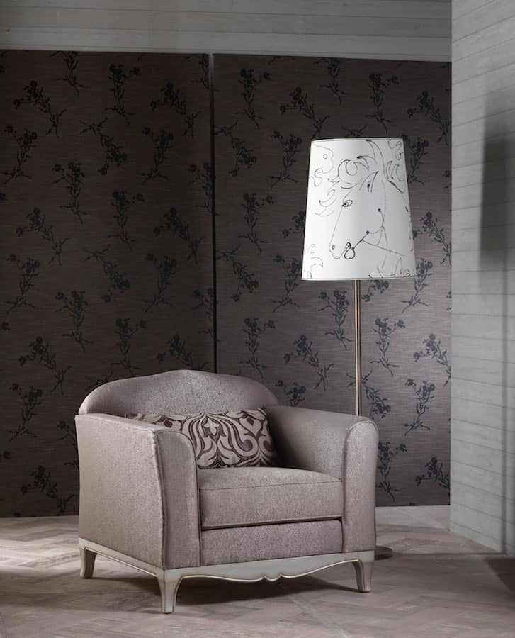 DORIAN armchair 8557A, Armchair elegant, excellent finish, for classic living room