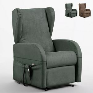 Dual-motor recliner armchair with removable armrests Caroline PR325F, Armchair with lift system