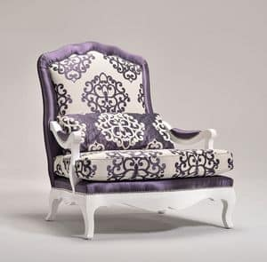 ETOILE armchair 8651A, Armchair decorated with rounded shapes, customizable