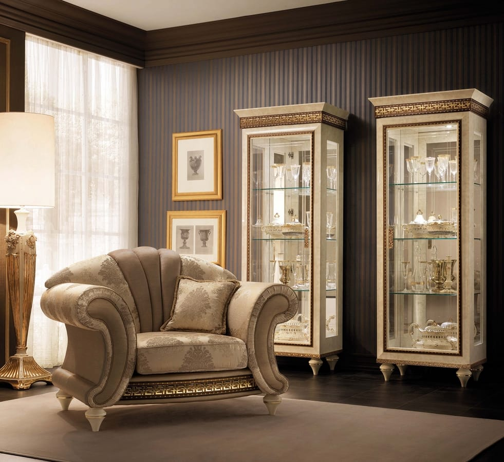 Fantasia armchair, Luxurious neoclassic style armchairs