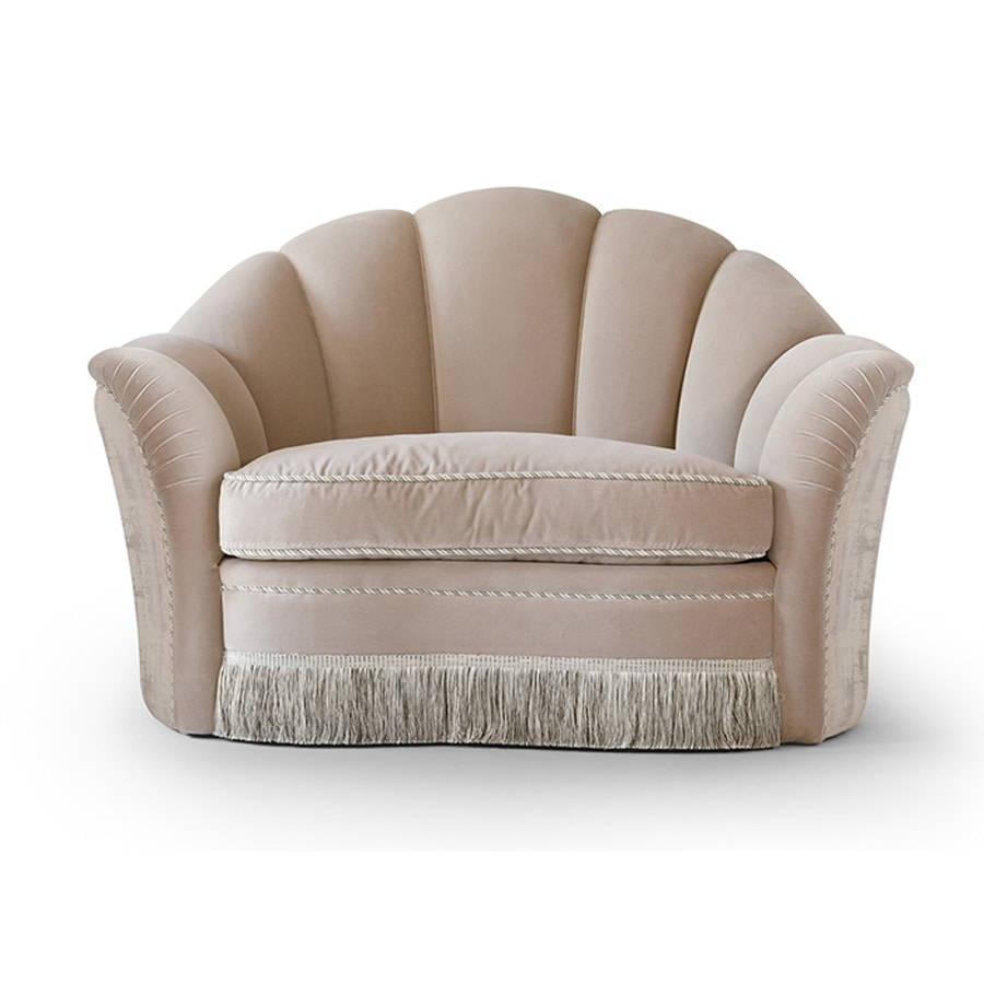 FLORA / armchair, Armchair with spacious seat