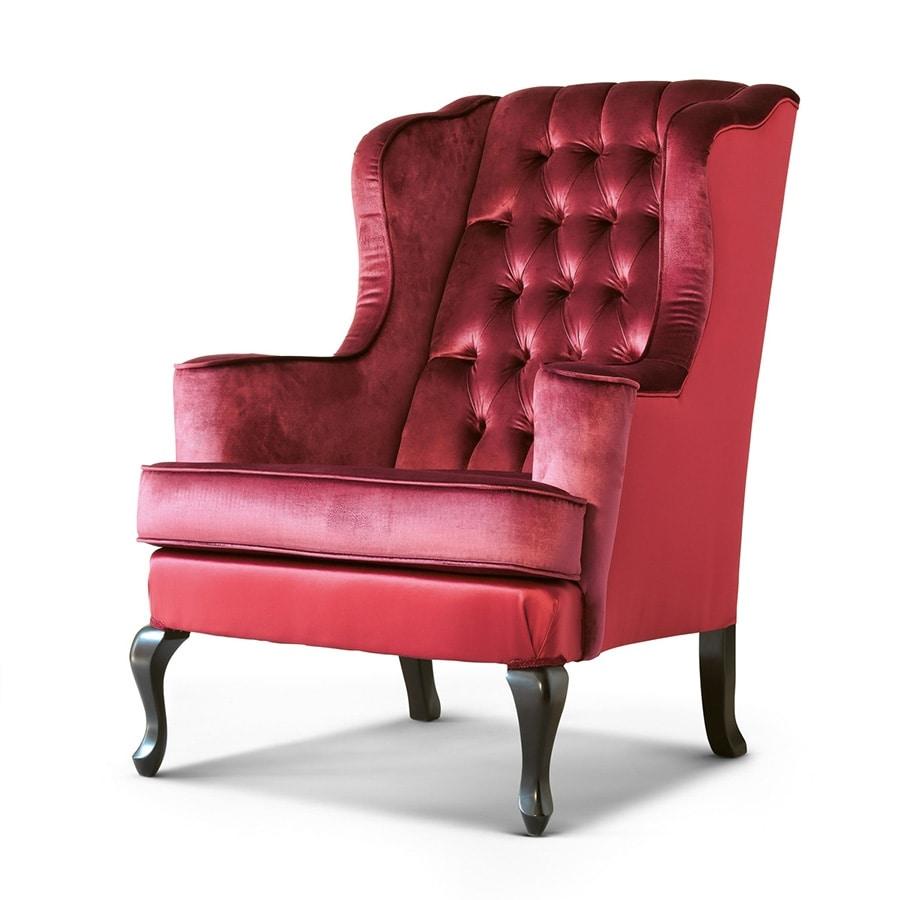 FLORA / bergere, Comfortable bergere armchair