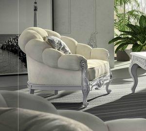 Giada Art. 2931, Enveloping contemporary classic style armchair