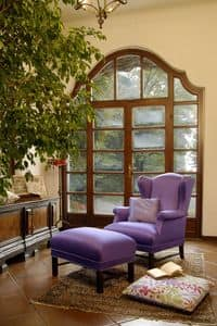 Gino, Classical armchair for sitting room