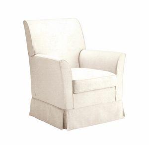 Giorgio, Fabric armchair with skirt