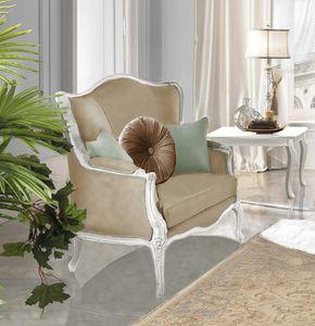 Giulietta Art. 3706 - 3906, Armchair with carvings