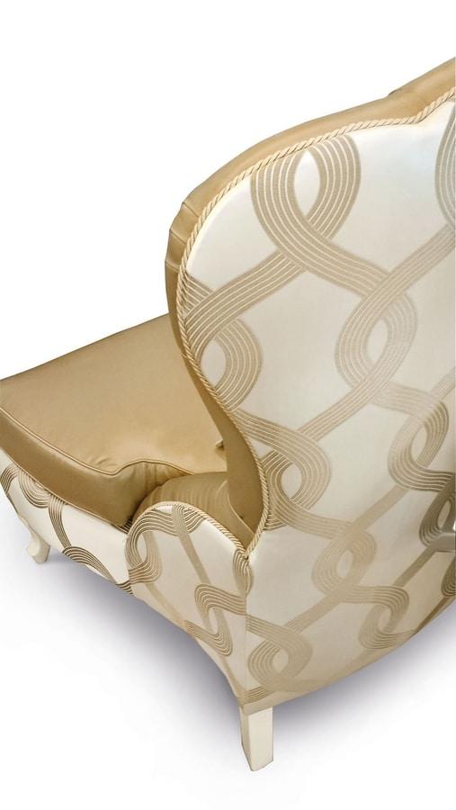 Gold Art. 4626, Armchair with capitonné back