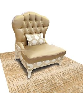 Gold Art. 4626, Armchair with capitonn� back