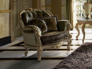 Grace armchair, Classic carved armchair