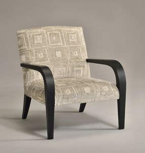 GUIA armchair 8238A, Armchair in classic contemporary style, customizable