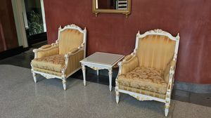 Impero armchair, Armchairs decorated by Italian craftsmen