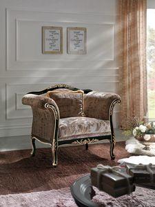 Inglese armchair, Carved armchair