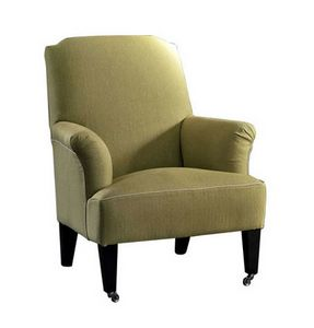 Iride, Armchair with castors, with removable upholstery