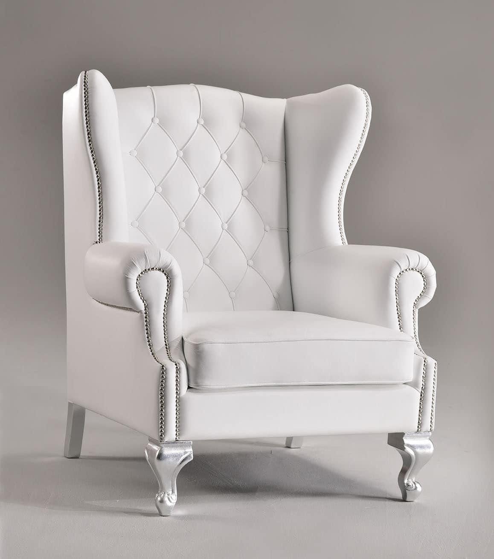 KOLE armchair 8540A, Luxurious armchair, high quilted back, for villas