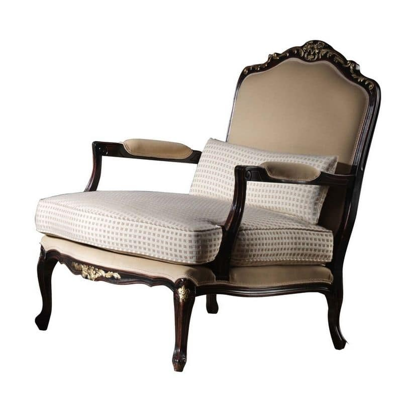 Marcelle BR.0253, Upholstered armchair, Louis XV style