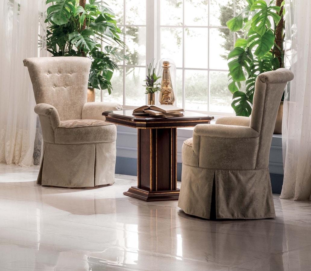 Modigliani armchair, Armchair with high back