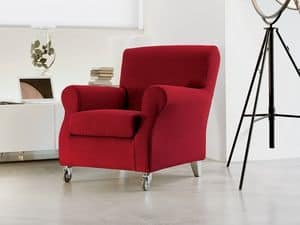 Novecento, Luxurious armchair in polyurethane, with wheels, for medical office