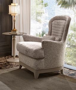 Oliver Art. OL37, Bergere armchair with comfortable padding