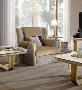 Oliver Art. OL91, Comfortable armchair with memory padding