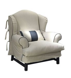 Ottone, Classic armchair, with removable cover